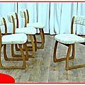 Chaises traineaux dîtes luges 1960
