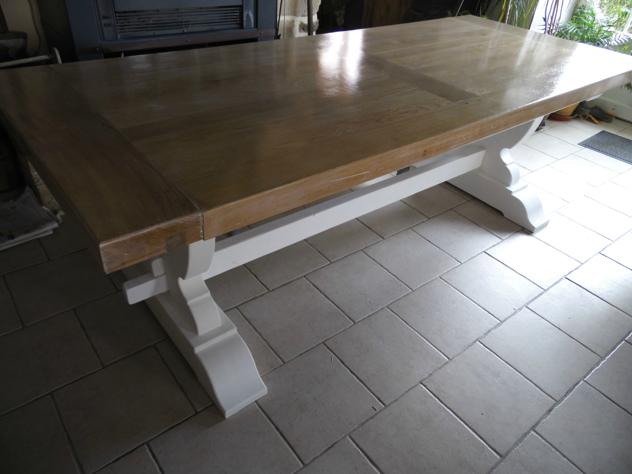Ancienne table de ferme la d co de g g for Salle a manger monastere
