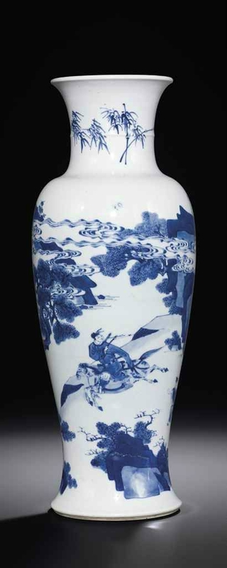 A blue and white 'narrative' baluster vase, Kangxi period (1662-1722) © Christie's Images Ltd 2013