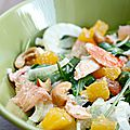 Salade d'agrumes au crabe, boulettes de lentilles-endives citronnées, galette des rois {menu marque repère moins de 3.5€/ pers}