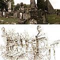 Balade dans le cimetière juif.