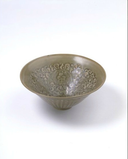 Bowl, moulded and glazed stoneware, Yaozhou ware, China, Northern Song dynasty, 1000-1127