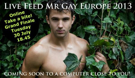 Mr Gay Europe Live Streaming Finale