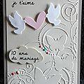 commande carte 10 ans de mariage