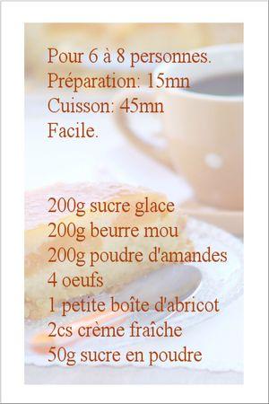 recette moelleux abricot