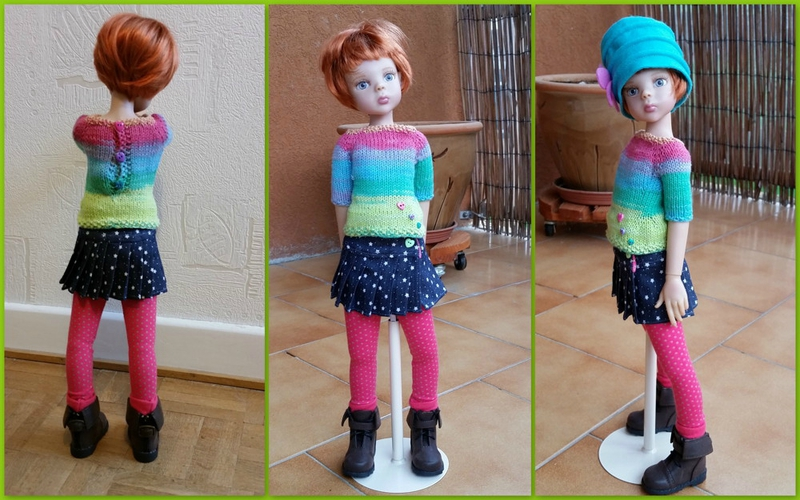 Tabatha et sa jupe plissée2