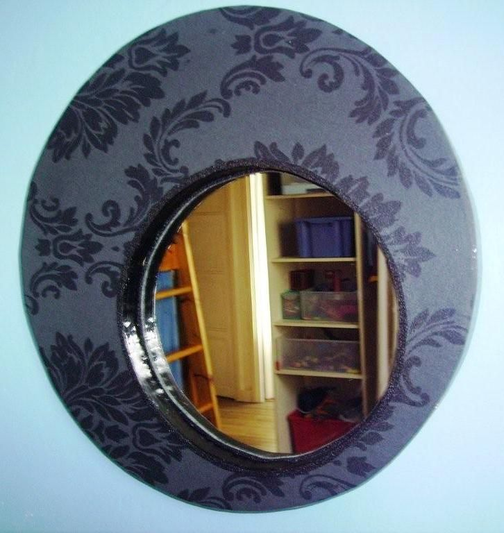 Miroir rond eclat de carton for Miroir eclat