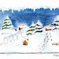carte n°15 - paysage neige