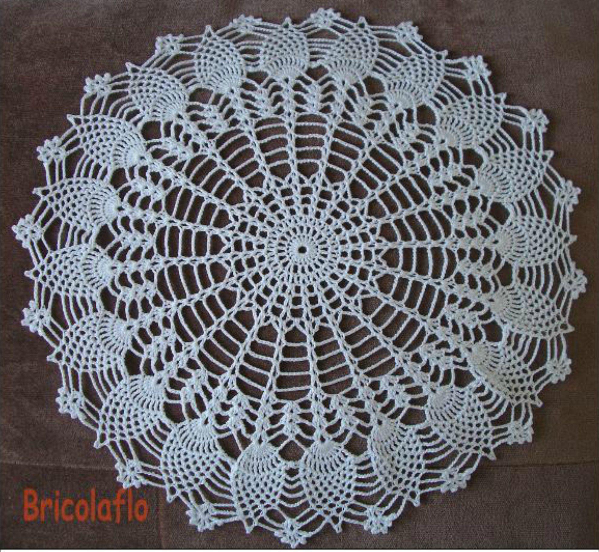 Grand Napperon Au Crochet dedans napperons et pot de confiture - bricolaflo