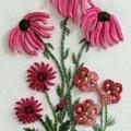 Fleurs brodée