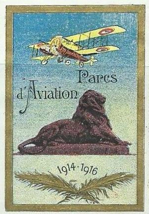 Vignette Belfort Parc d'aviation 1914 1918 édition Delandre