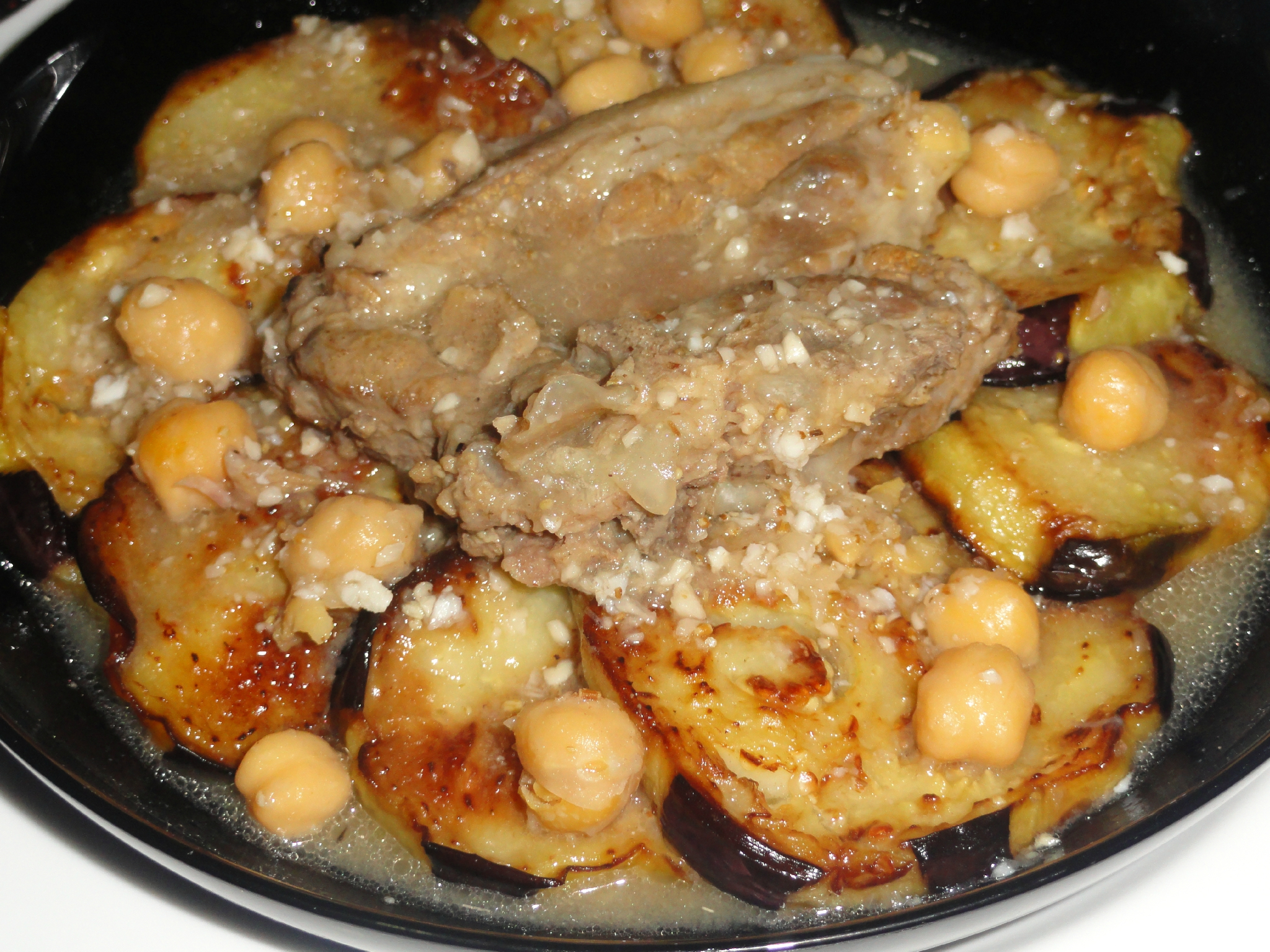 Mederbel bel bathenjel tajine d 39 agneau aux aubergines - Recette de cuisine algerienne traditionnelle ...