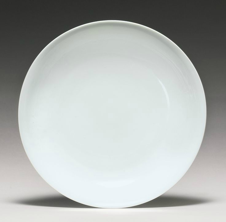 A rare white-glazed 'Anhua' dish, Qing dynasty, 18th century