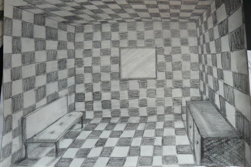 Perspective D Interieur 1 Points De Fuite : Initiation au dessin de perspective devoir n° les