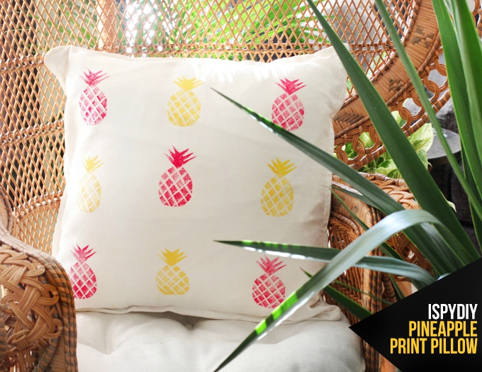 Tampon ananas , impression coussin