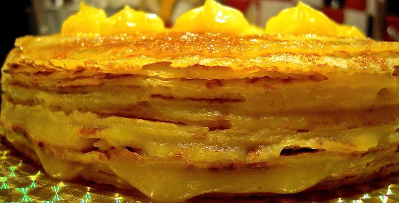 gâteau de crêpes au lemon-curd