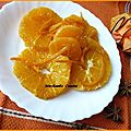 Salade d'oranges et clmentines aux pices et coulis d'orange