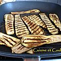Aubergines grilles al rag