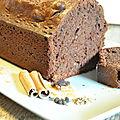 Cake chocolat, épices, miel et...