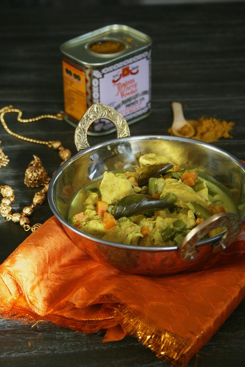 Curry de poulet et légumes - cuisine indienne - passion culinair e- minouchka