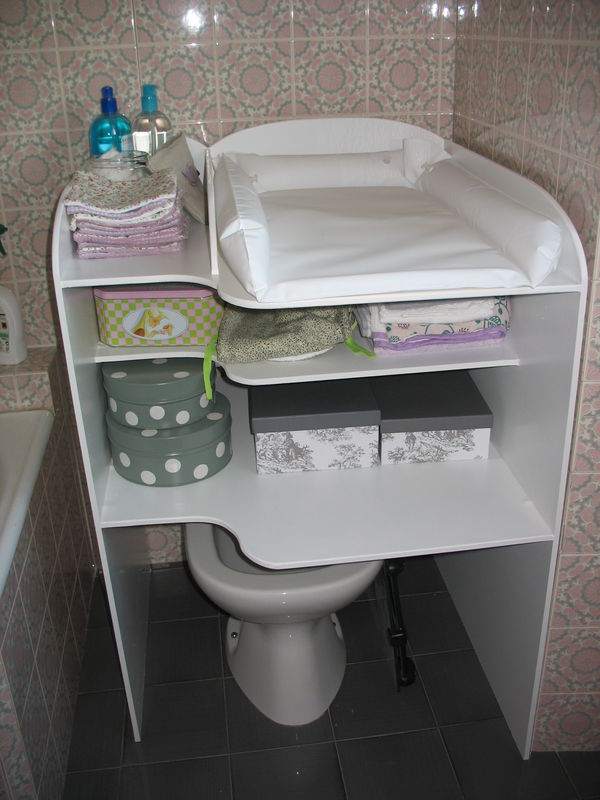 La super table langer faite par le futur papa d co d - Table a langer avec baignoire occasion ...