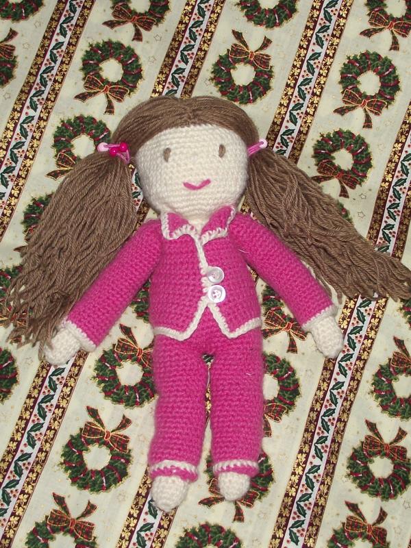 poupée au crochet catherine