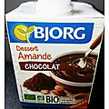On a teste pour vous : la nouvelle creme dessert amande chocolat de bjorg