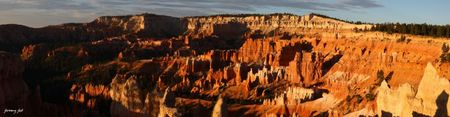 bryce canyon sunrise panoramic