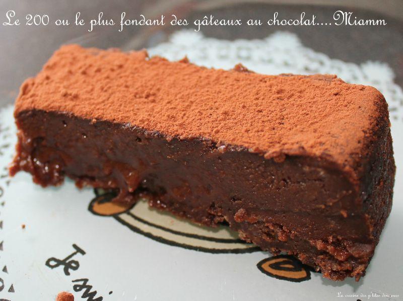 Le 200 le plus fondant des g teaux au chocolat la for Dans 30 ans plus de chocolat