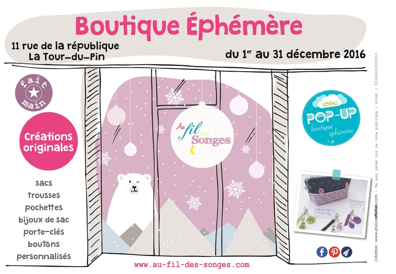 flyer boutique pop