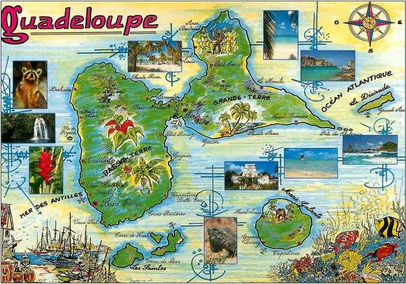 CPM Guadeloupe illustrée Paul Ovejero