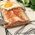 Wraps croque-monsieur.