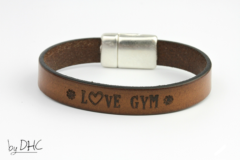 bracelet gym cuir marron