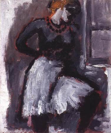 Femme_rattachant_son_jupon__circa_1903_05_de_Kees_Van_Dongen