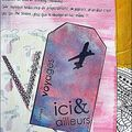 Art journal - j'ai ressorti mes distress !