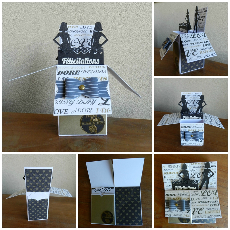 Collage card in a box