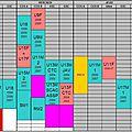 Planning des entrainements 2016/17