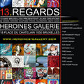 Expo ( vernissage en photos ) héroïnes galerie /bruxelles :