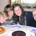 avec son papa Milos et son frère Dejan