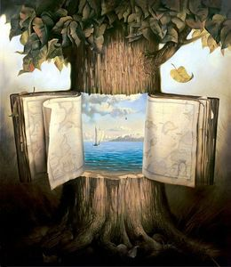 book,surreal,tree,vladimir,kush-