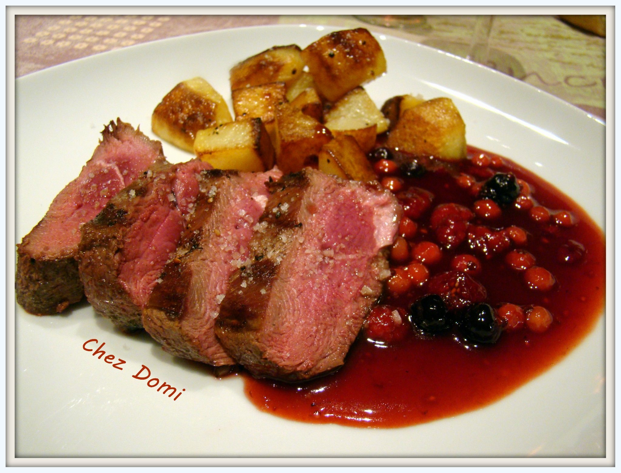 Magret de canard la gel e de fruits rouges domi vous for Quels legumes avec magret canard