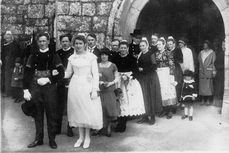 Dorval Bernard groupe de noce 1925