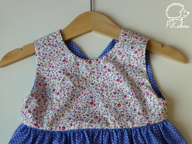 robe croisee pois bleu Pikebou 2
