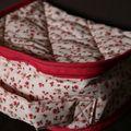 Mini-valise à fleurs