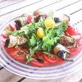 Salade aux rouleaux d'aubergines