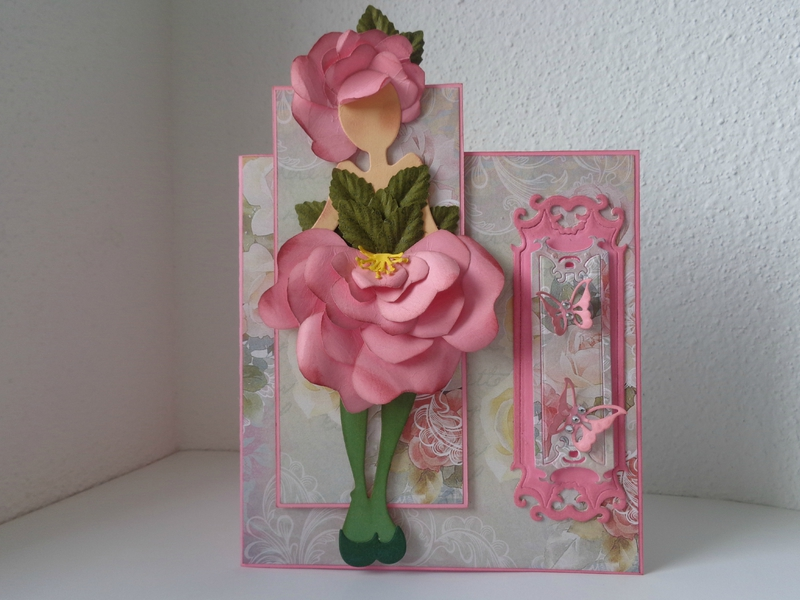 "Carte double ""miss Rose"""