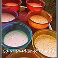 Panna cotta au lait d'amandes et biscuits