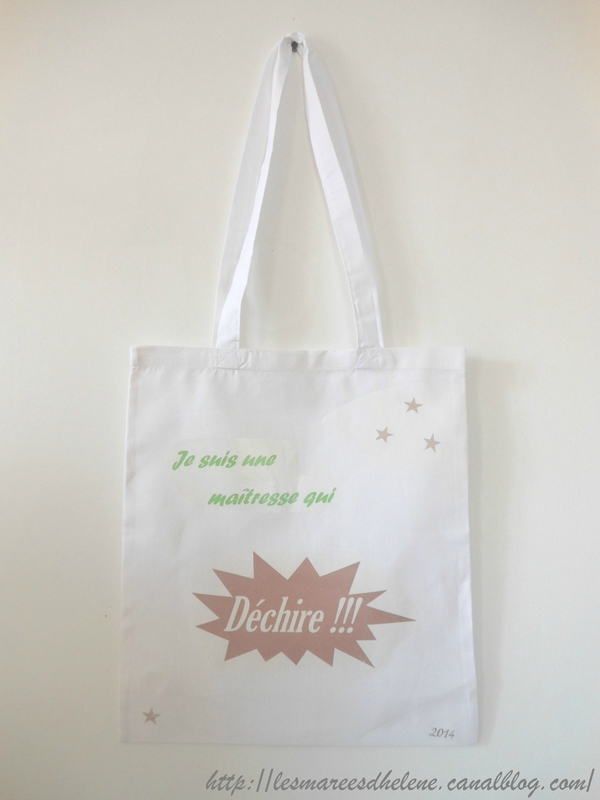 Cadeau pour la maîtresse DIY Tuto tote bag