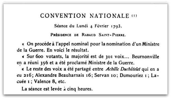 CHASTELLET VOTE MINISTRE DE LA GUERRE z