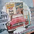 Carte anniversaire rétro